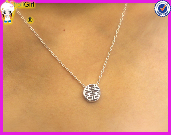 2015 new hot products with chinese character design double happiness 2015 new hot products with chinese character design double happiness symbol circle pendant meaning necklace aloadofball Image collections