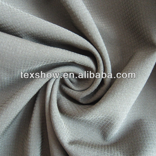 Polyester/spandex walf checks 4 way stretch fabric