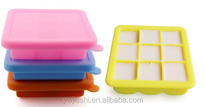 sans bpa silicone ice cube moule 9-cavity bac à glaçons avec