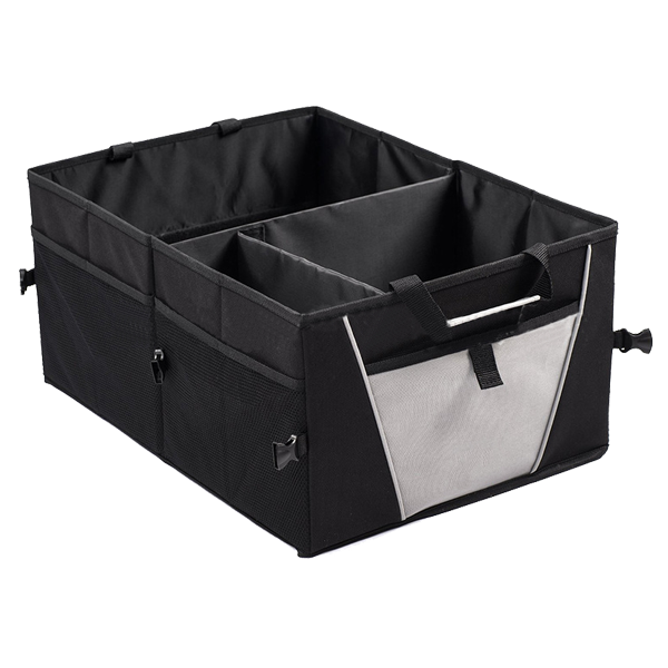 Large Three-Compartment Back Car Organizer , Tool Food Shopping Stuff Back Car Trunk Organizer Box