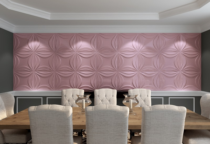waterproof embossed wallpaper for home decoration