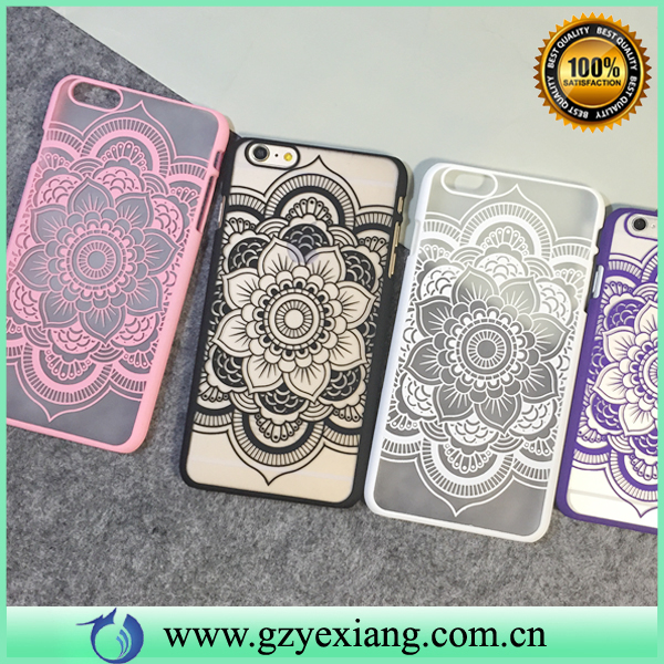 Nice Flower Design Hard Back Cover Case For Iphone 6 6S Mobile Phone Plastic Case