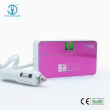 High Quality 3 Ways Car Cigarette Lighter MP3 Player Installed Two More USB Output Car Charger Adapter