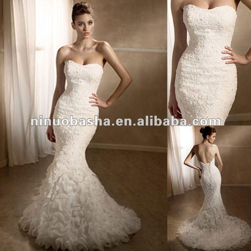Venta al por mayor vestidos de novia bordados a mano-Compre online ...
