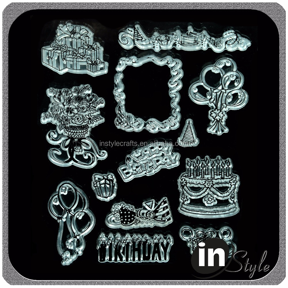 Lovely Pattens Clear Stamp for Scrapbooking and Cardmaking factory direct sale
