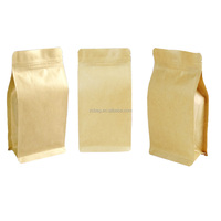 12 oz Custom Printed Kraft Paper Aluminum Foil Stand Up Zip Lock Bags Flat Bottom Pouch Green Tea Packaging