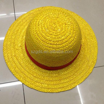 Hadiah One Piece Anime Monkey D Luffy Straw Hat Cap Cosplay Kuning Animasi One Piece Luffy Cosplay Topi Untuk Anak Anak Buy Straw Hat Untuk