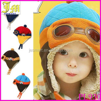 New Fashion Toddlers Warm Cap Hat Beanie Cool Baby Boy Girl Kids Infant  Winter Pilot Aviator 884055406f8