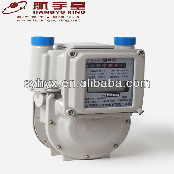 Explosion Proof Dual Mode Remote Reading & IC Card Prepayment Aluminium Case Gas Meter G4.0