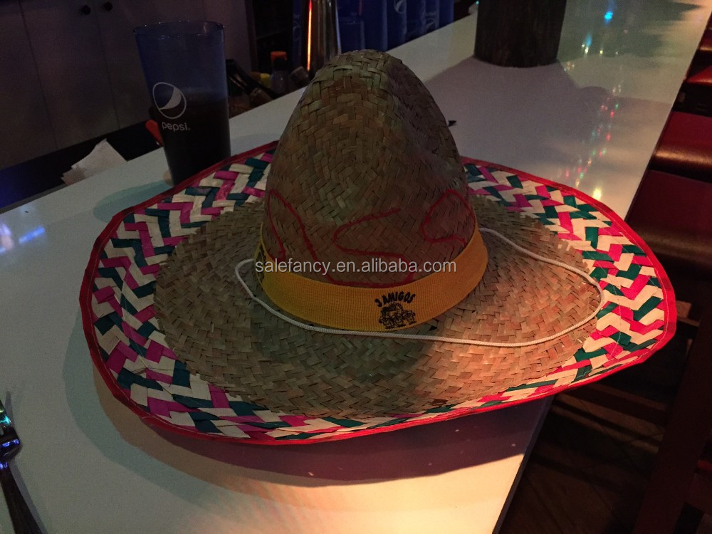 Mexican Sombrero Western Bandit Fancy Dress Straw Hat Costume Accessory  QHAT-2342 96a80d4b2bf0