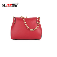 Original China Products Smooth Leather Bag Gold Chain 2018 handbag