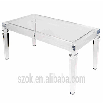 Modern Design Customized Clear Square Acrylic Coffee Table Legs