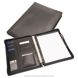 wholesale office fancy leather ring binders with any logo for office / school / hospital