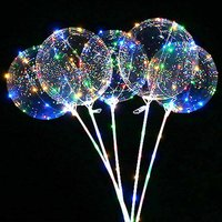Nicro 2019 New Product Christmas Wedding Decoration Glow Inflatable BOBO Light Led Ballons for Party