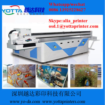 World best Advertisement Board UV Printer large 3020 size UV Glass Flatbed Printer