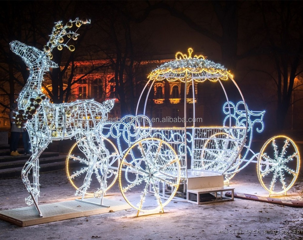 Christmas Decorative Light Pumpkin Carriage Cinderella, Christmas ...