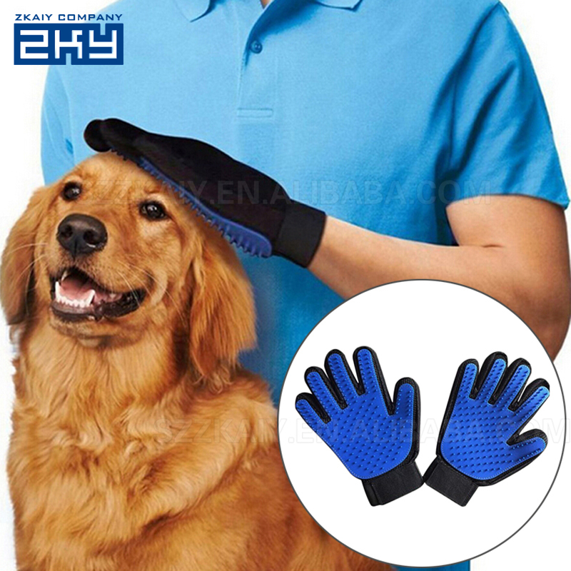 2-in-1 Pet Glove Grooming Massage Tool,Pet <strong>Dog</strong> and Cat Grooming Glove Brush,Gloves for Pet Washing Hair Remover