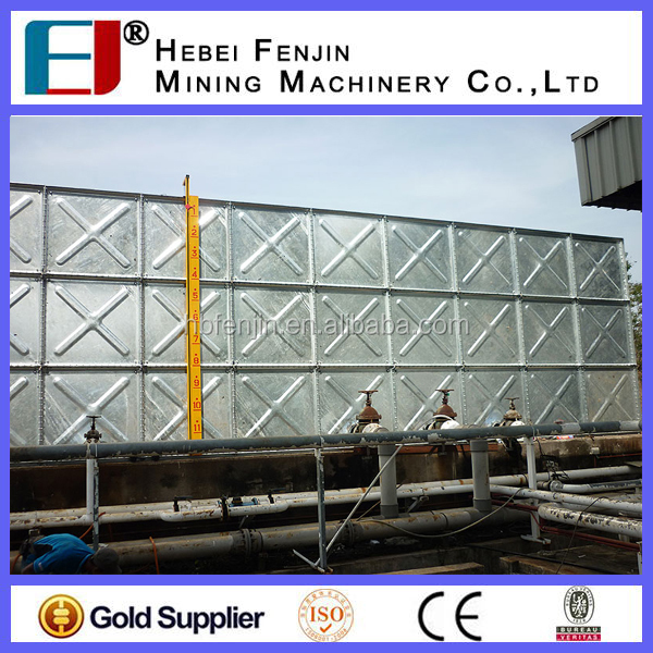 Large Volume Hot Dip Galvanized Pressed Steel Water Tank Used In Farm Land