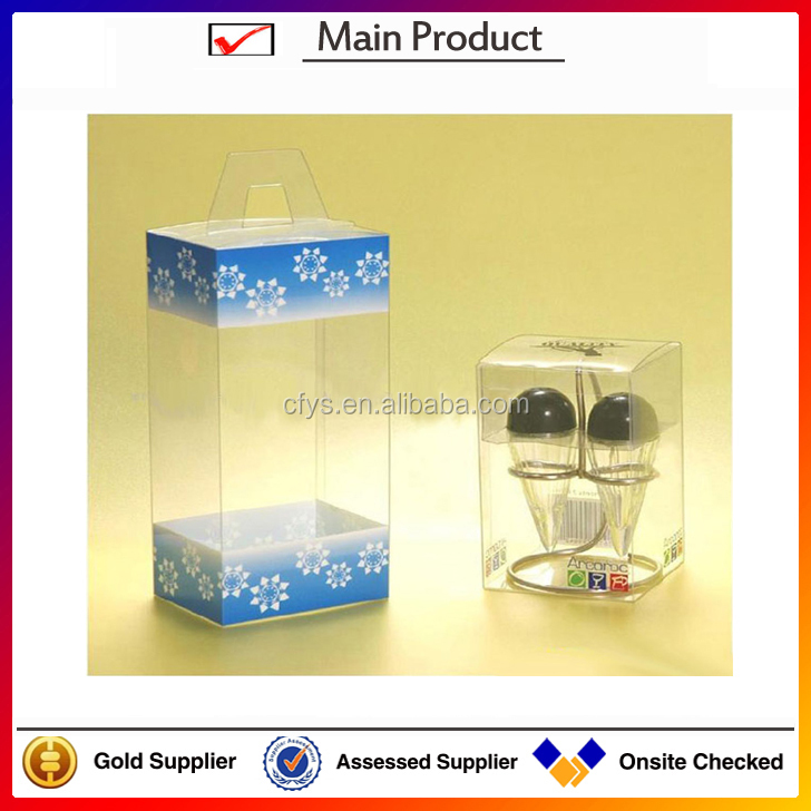 custom logo printed Manufacturers PVC gift box packing clear plastic display cases frosted pvc sheet for wireless mouse