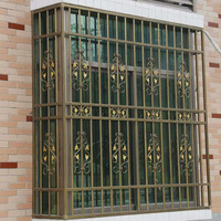 2017 High Quality Security Window,Wrought Iron Window Grill Design