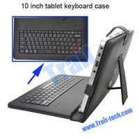 10 inch Tablet Keyboard Case with Holder and USB Cable