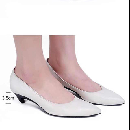 stiletto high heel can change to low heel fold foldable genuine leather shoes with removable heel