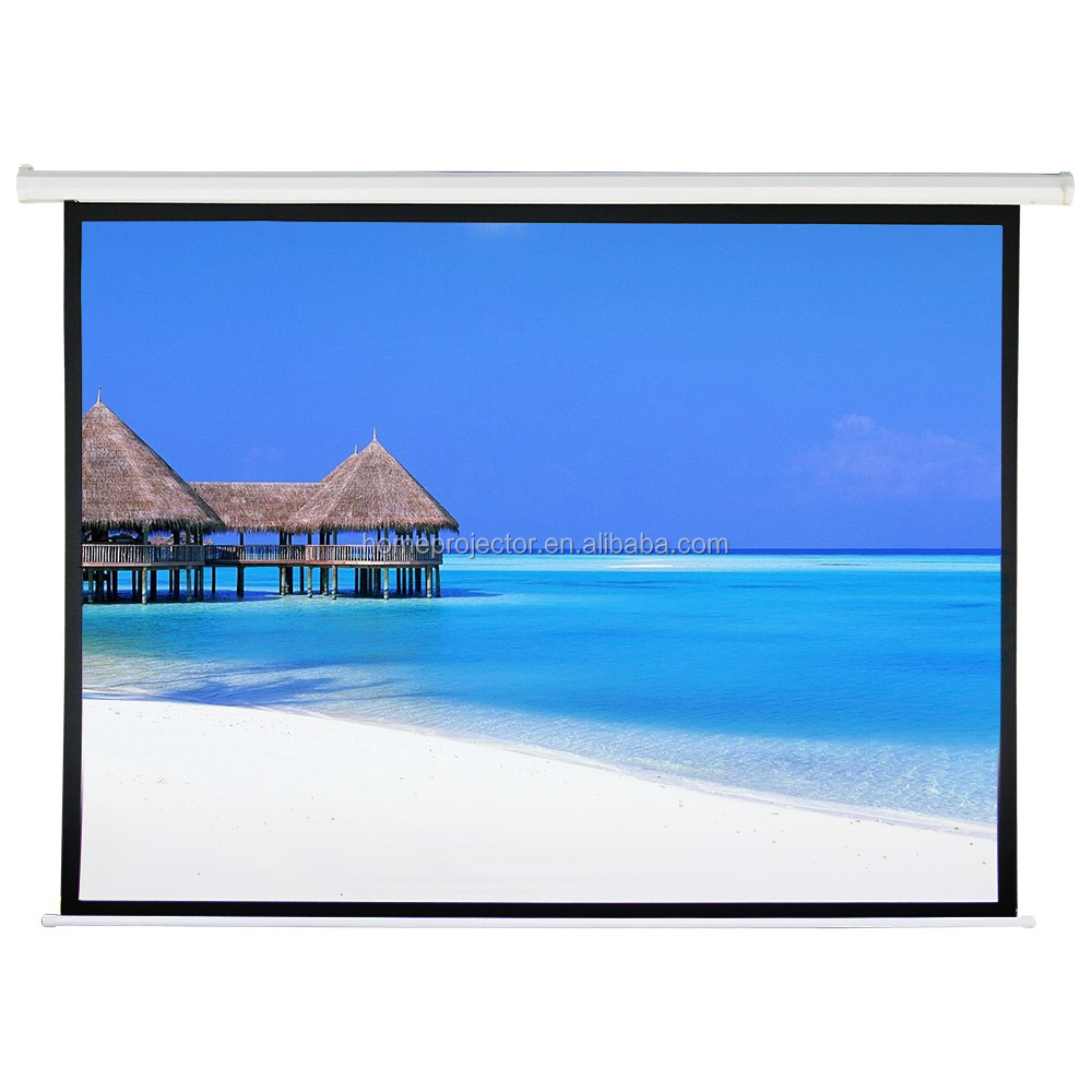 High quality electric projector screen 16:9&4:3 movie projector screen