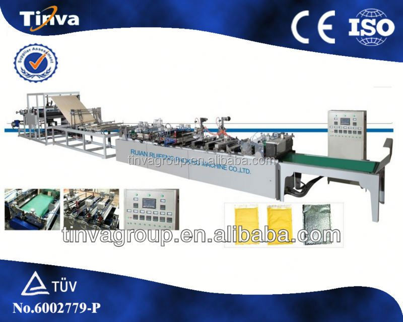 High Speed DISQ-700B Two Side Seal kraft bubble mailing envelope production line