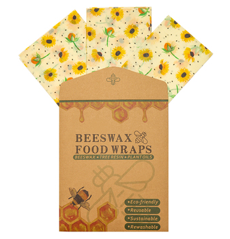 3pcs Beeswax Food Wraps Small Medium Large Eco Food Covers Reusable