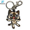Cheap Design Custom little cat shaped 3D Soft PVC Rubber PVC keychains