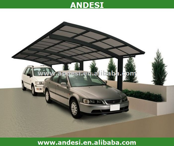aluminium carport mit kunststoff bogendach garage dach. Black Bedroom Furniture Sets. Home Design Ideas