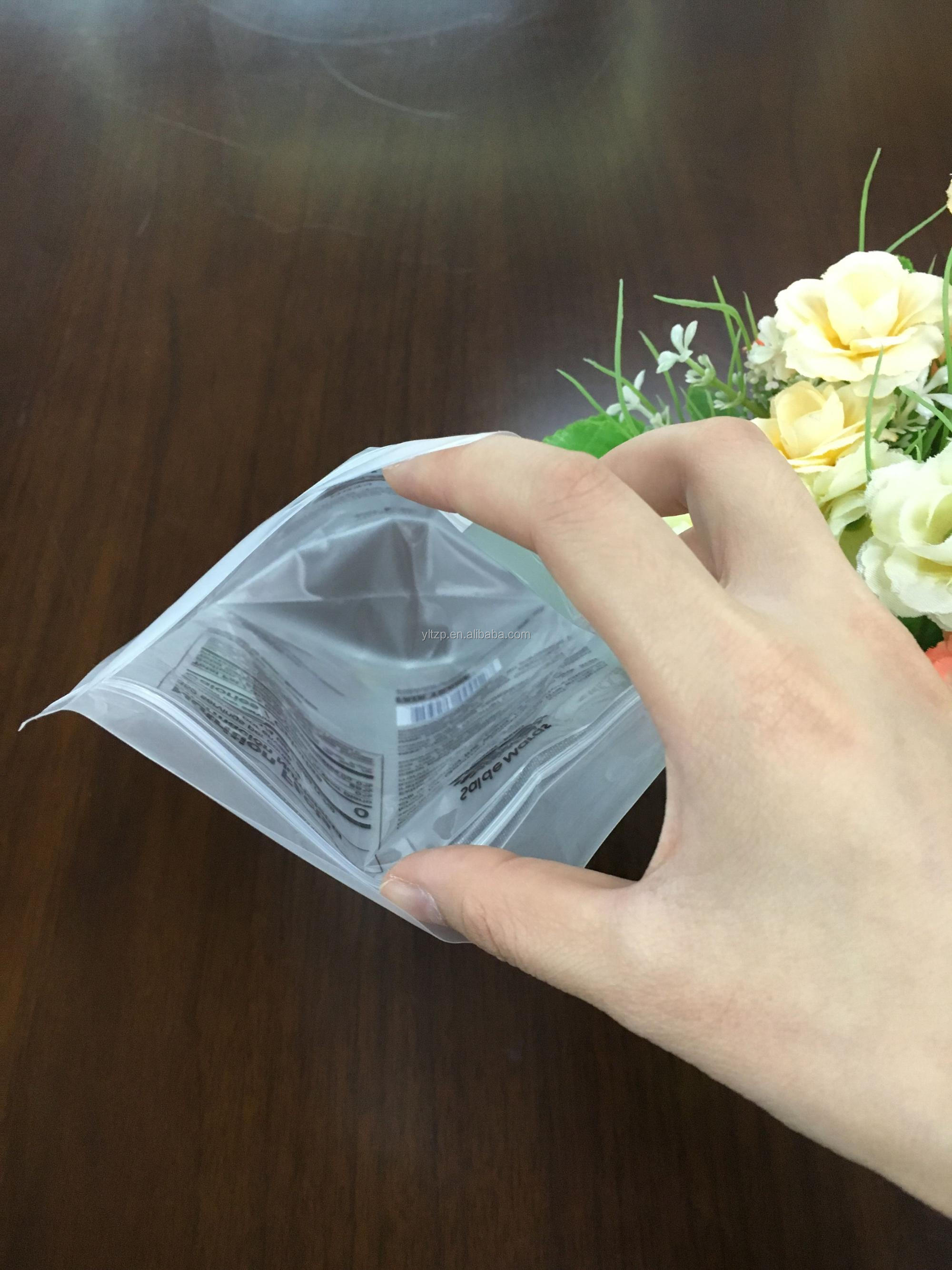 Matte OPP/PET/PE resealable semi-transparent ziplock bag zipper bag clear stand up pouches