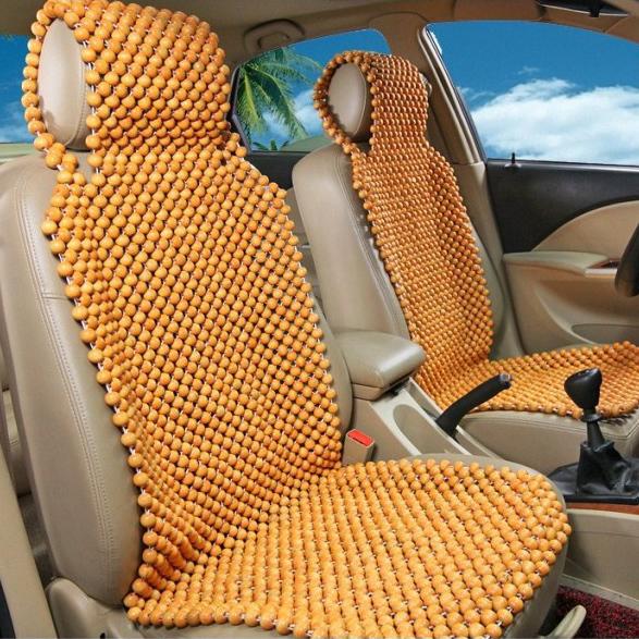 handmade design wooden bead car seat cover for summer