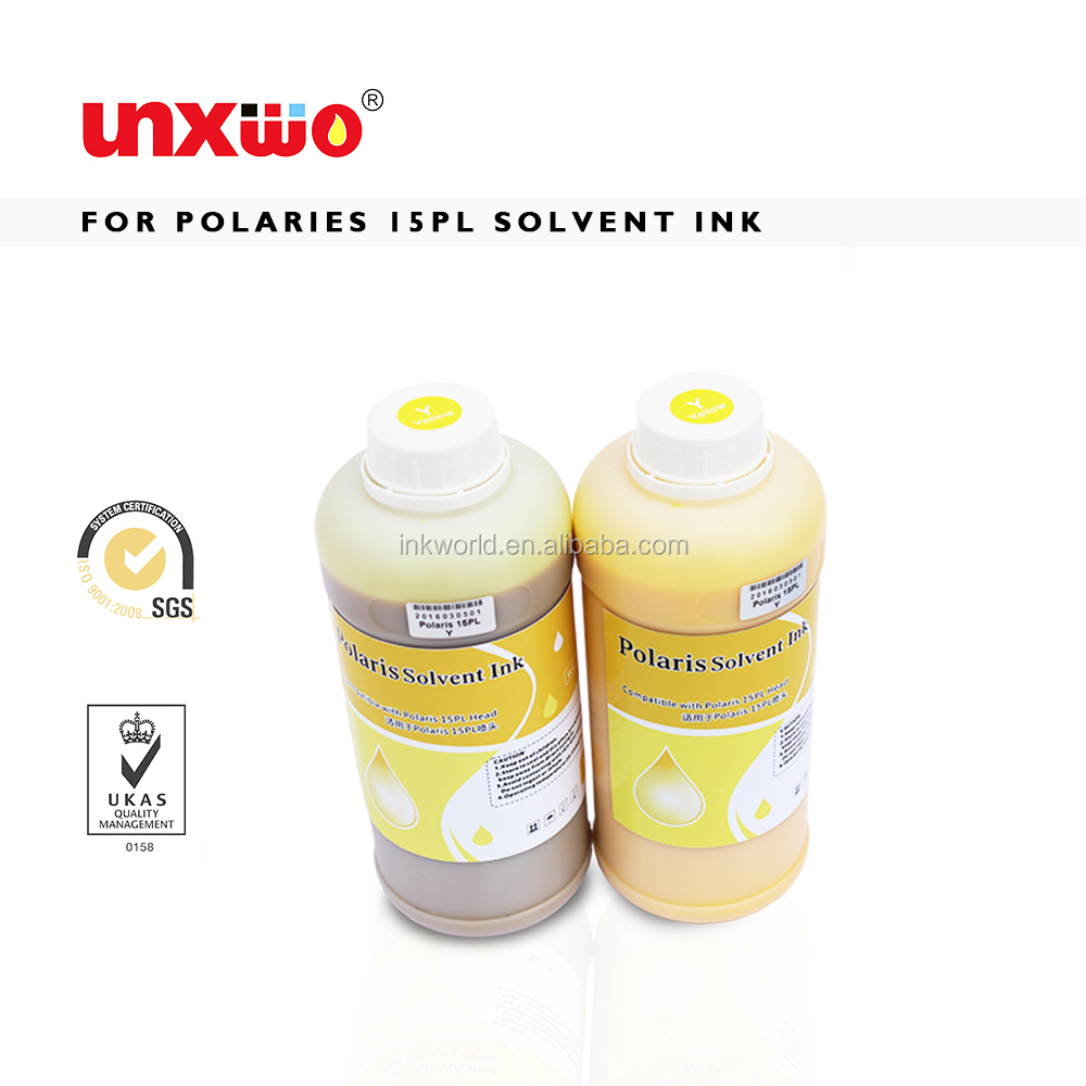 Quality assured flora gongzheng printer spectra polaris 512 15pl 35pl solvent ink for LJ320P