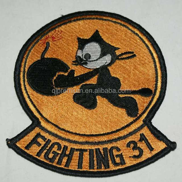 High quality custom embroidery patch embroidered letter number patches for  clothing