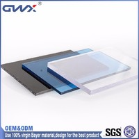 1.8mm Light weight clear solid plastic sheet for solar Bus shelter