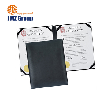 A4 Paper Customised Pu Leather Certificate Holder Degree Diploma ...