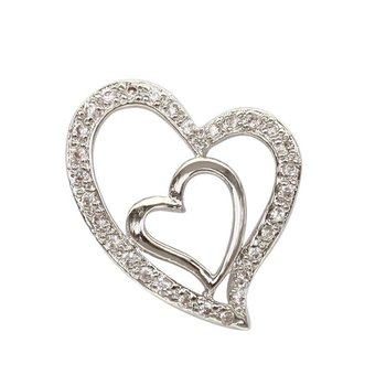 925 silver couple heart pendant buy sacred heart pendantheart 925 silver couple heart pendant aloadofball Images