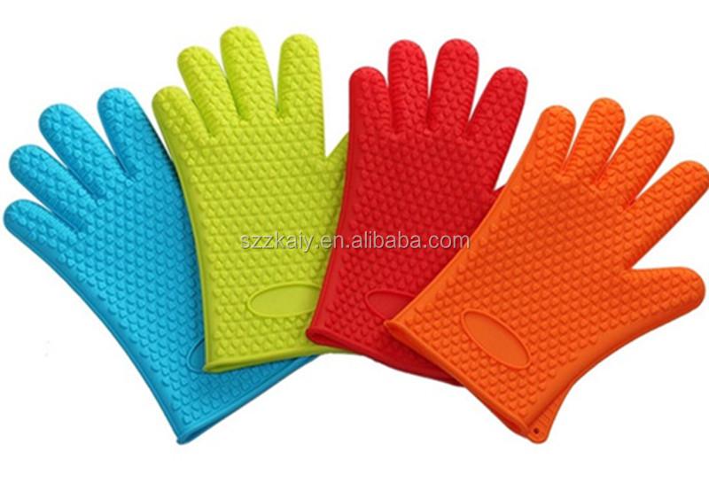 Zky - Custom Logo Silicone Grill Gloves Dishwashing Silicone ...