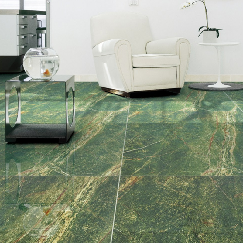 Hs616gn Olivine Stone Olive Forest Green Polished Porcelain Tile