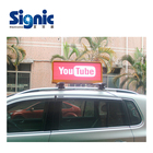 Signic P2.5mm P3mm P5mm WIFI 3G GPS Car roof sign Car Taxi Top LED Sign for Dynamic Advertising taxi top led display