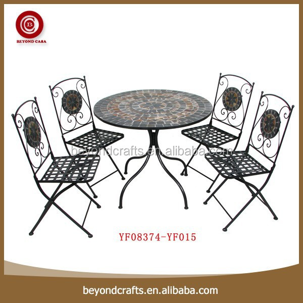 Newest good quality useful popular eco-friendly iron dining room set