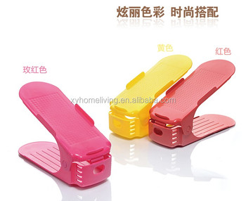 Shoes Organizer About Plastic Foldable Single Pair Plastic Shoes Rack
