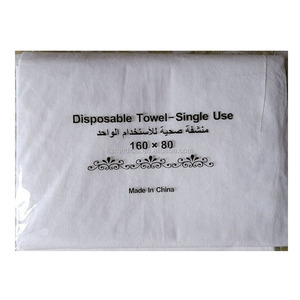 80*160cm Disposable woodpulp towel for SPA