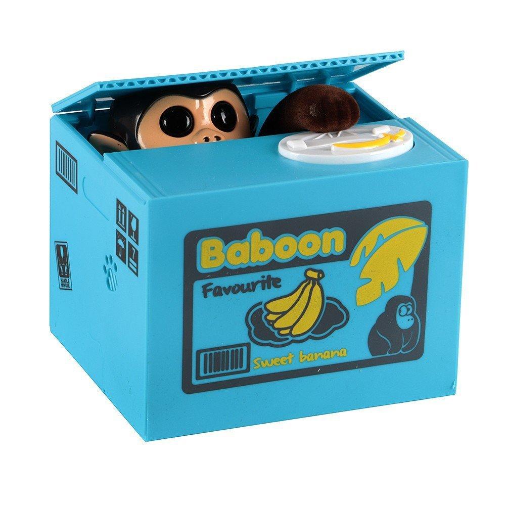 Infinal Stealing Coin Cat Dog Mouse Piggy Bank Robotic Coin Munching Toy Money Box (G)