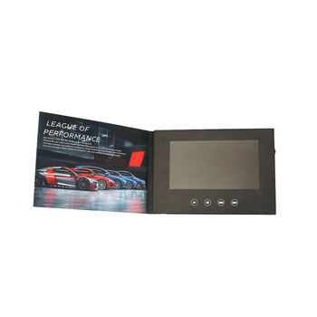 Et-digital 5 Inch TFT Touch Screen LCD Video 브로셔 Card 달력 브로셔 책 Video Card 대 한 기념품