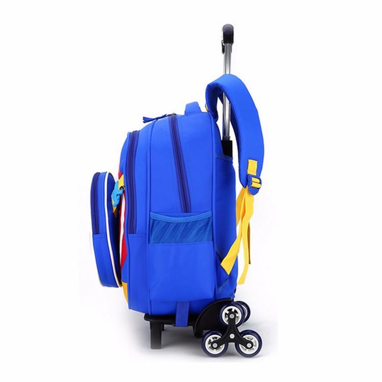 2017 New Arrivals Kids 3 Wheel Trolley School Bag Fancy Unique Rolling Book