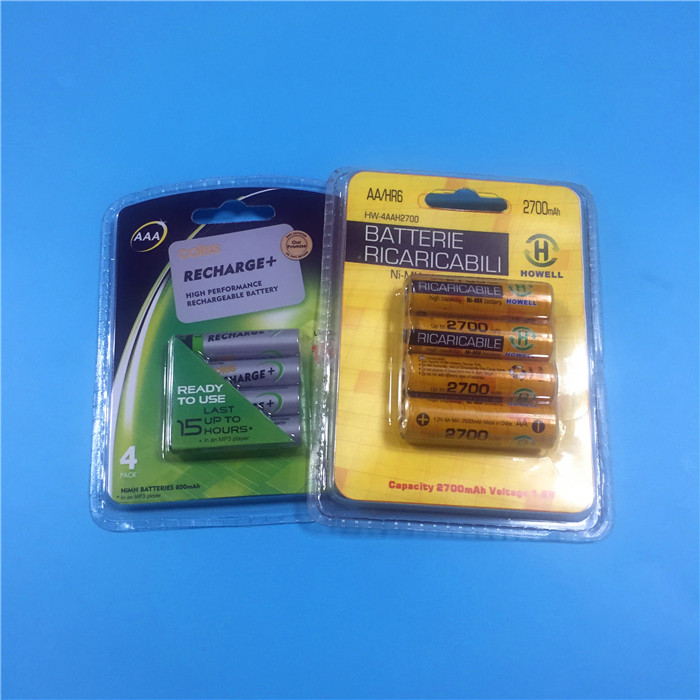 1.2V 2700mah nimh AA rechargeable battery for toys