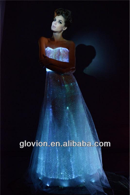 New Luminous Wedding Dress Glow In The Dark Formal Dress