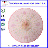 latest oiled paper umbrella designs chinese style 30 ribs pink oiled paper umbrella
